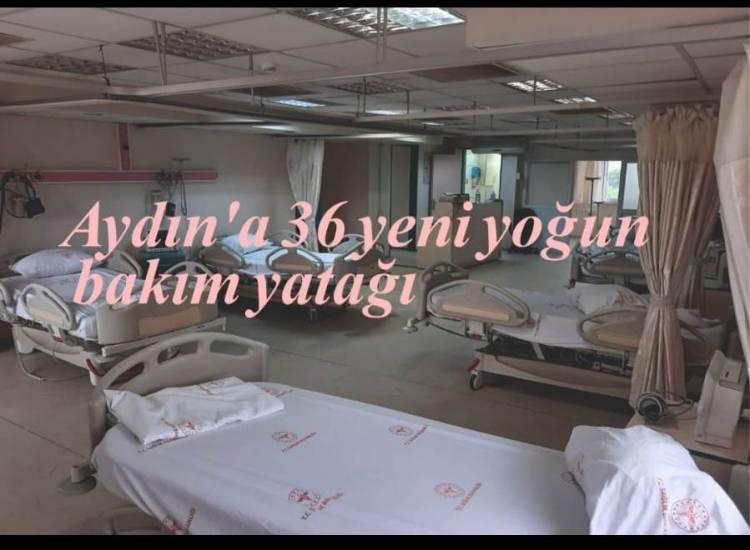 Aydın'a 36 yeni yoğun bakım yatağı